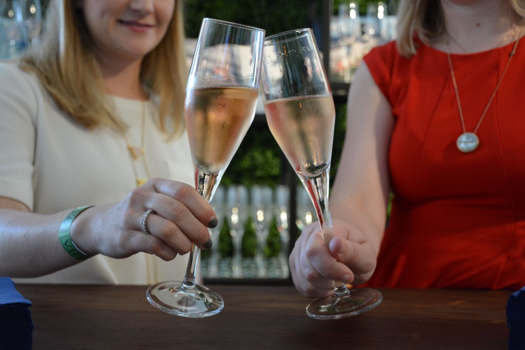 We love kicking things off with Champange and Celebrity Cruise had us covered -- upon entry guests got a full glass to toast the evening. (Photo by Raisa Aziz)