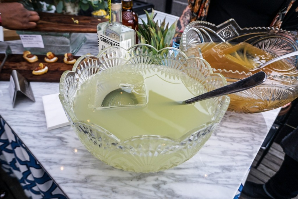 The Celebrity Cruise VIP experience at the Columbia Room included two locally inspired punches: Gin Punch a la Terrington with GreenHat Gin and Linstead Punch with Catoctin Creek Rye whiskey. (Photo by Albert Ting)