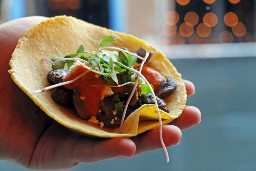 Our favorite vegan tacos are the mushroom ones from Chaia Tacos in Georgetown! (Photo by January Jai)