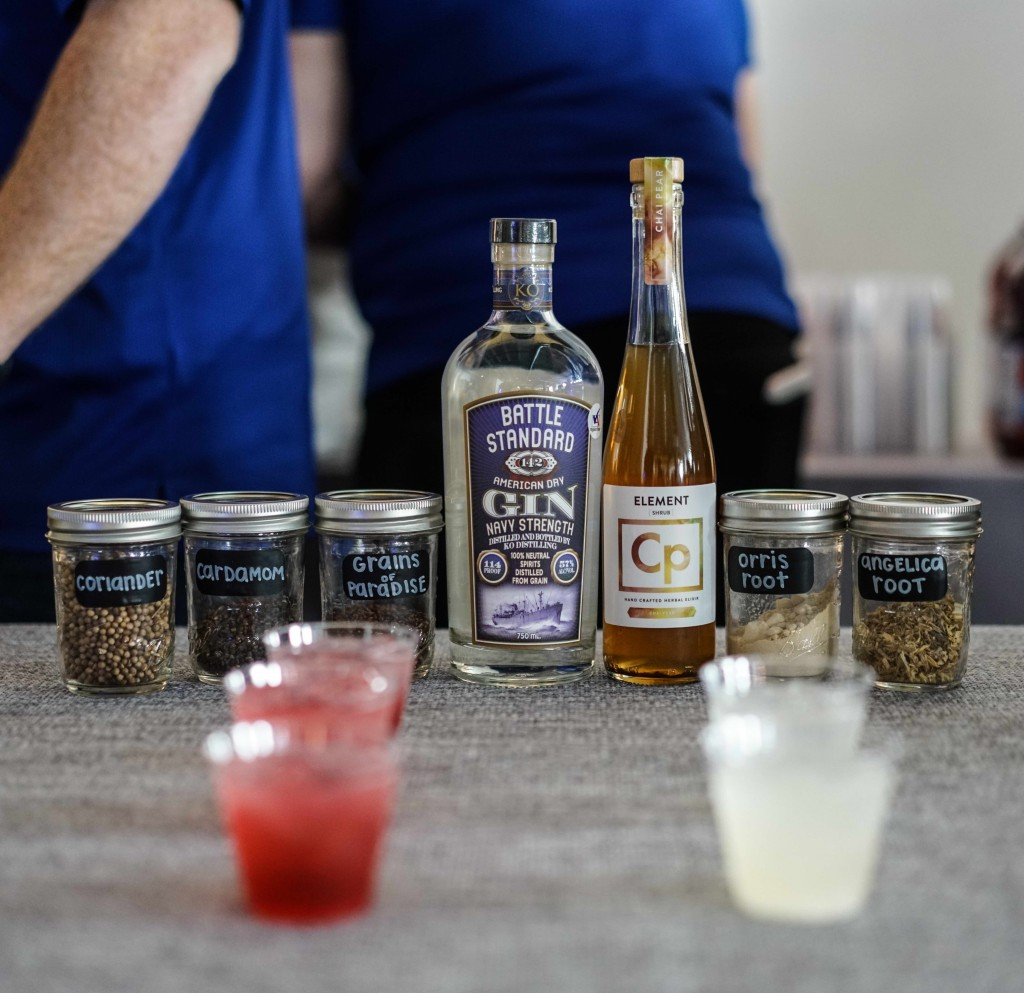Manassas, VA based KO Distilling wasn't just pouring but educating guests on the unique flavors that make up their navy strength gin. (Photo by Albert Ting)