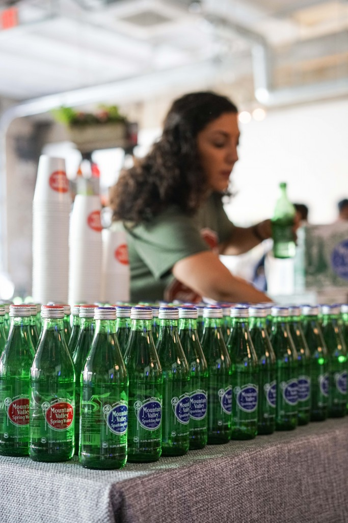 We're obsessed with the flavor of Mountain Valley Spring Water which is loaded with natural minerals and has a slightly high pH level. (Photo by Albert Ting)