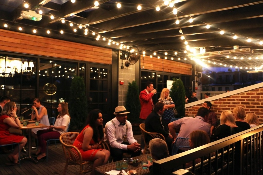 VIP guests has exclusive access to the Celebrity Cruise patio at the Columbia Room, Derek Brown's newly opened bar in Blagden Alley. (Photo by January Jai)