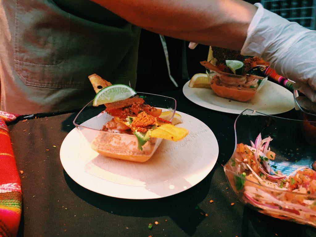Ecuador, shrimp ceviche.