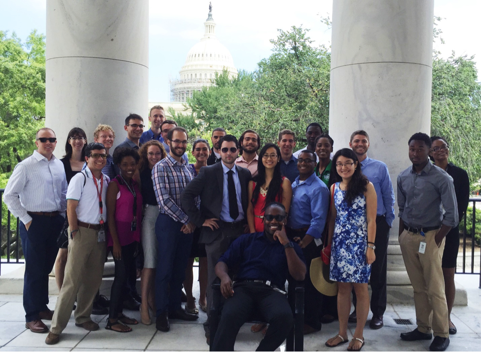 USDA interns outside the House Agriculture Committee after a day of touring the Capitol and legislative buildings.