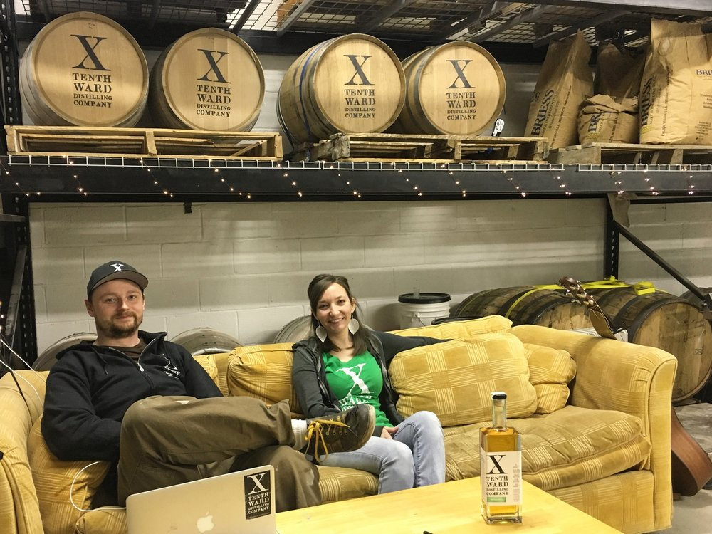 Kyle pfalzer   and Monica Pearce, founders of Tenth Ward Distilling. (Photo by David Amini)