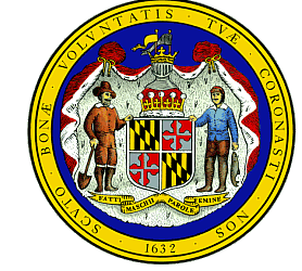 a farmer and a fisherman are featured on the maryland state seal.