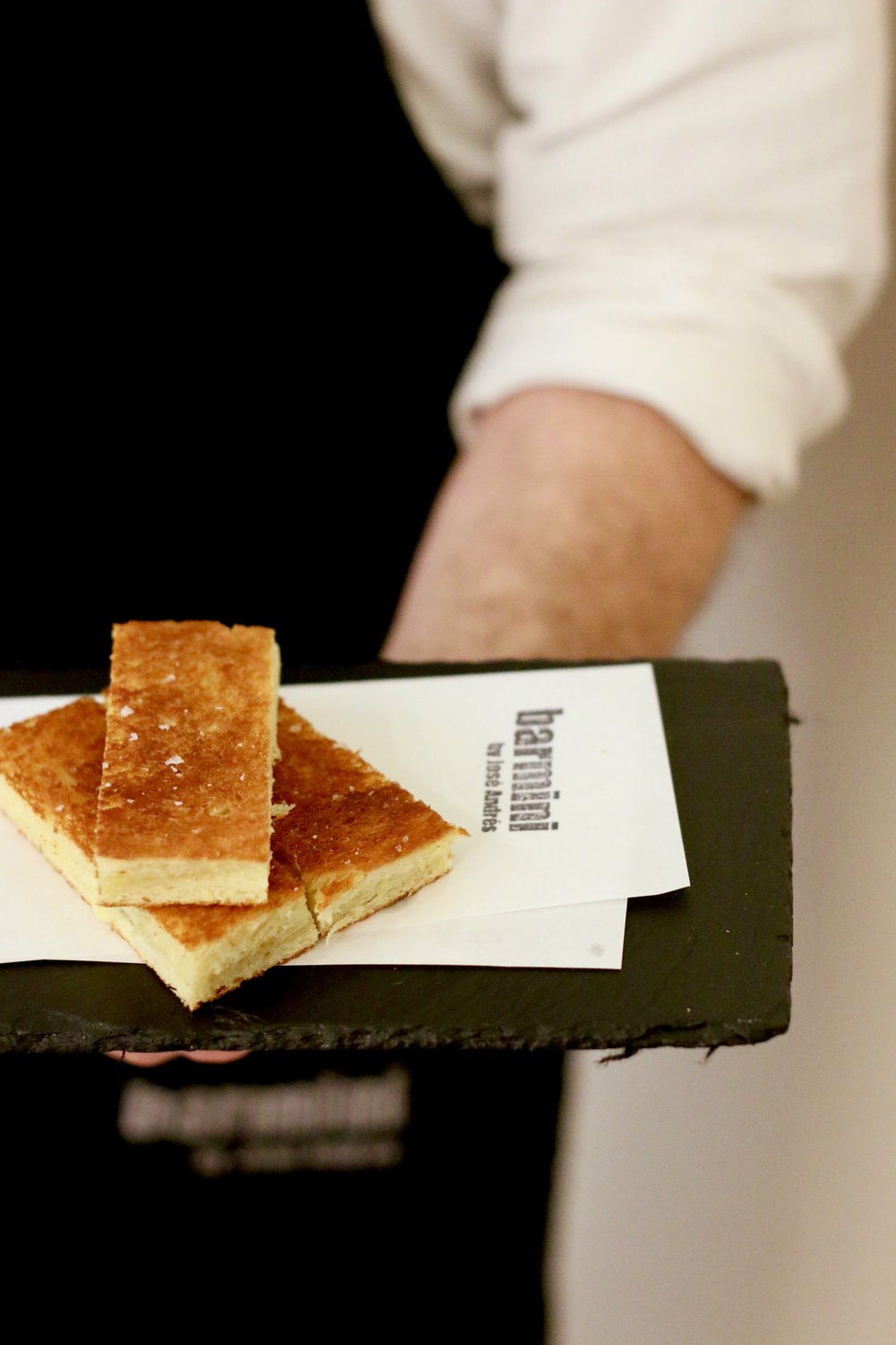 Delicious bites from minibar can be ordered like these grilled cheese sandwiches with truffle, cheddar, and caramelized onions.