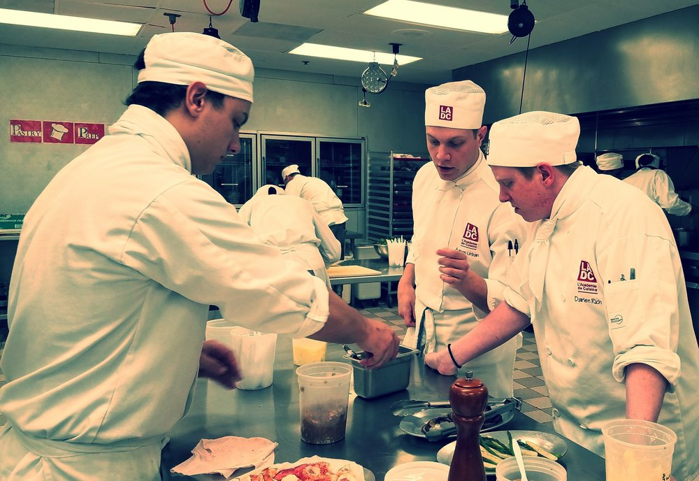 The kitchen was abuzz with last minute prep as we took a look in the kitchen at noon on Wednesday, March 22.