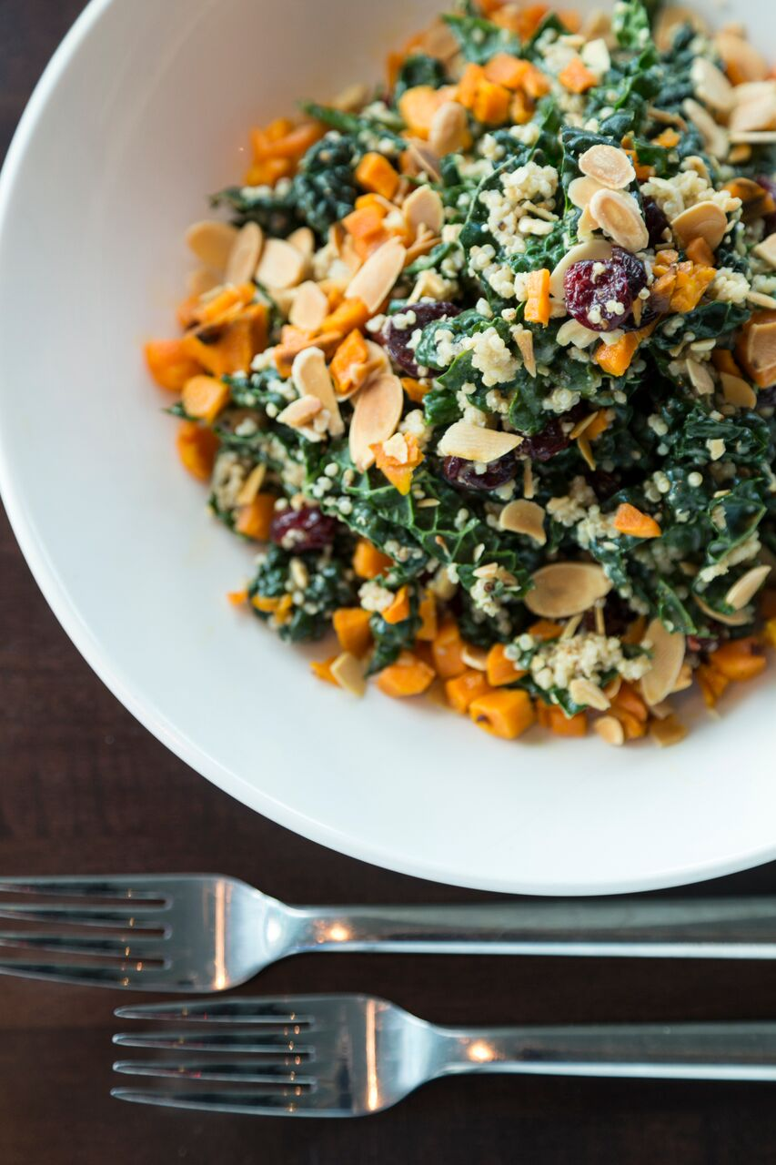 Kale and quinoa salad at the grilled oyster company- photos are their own property