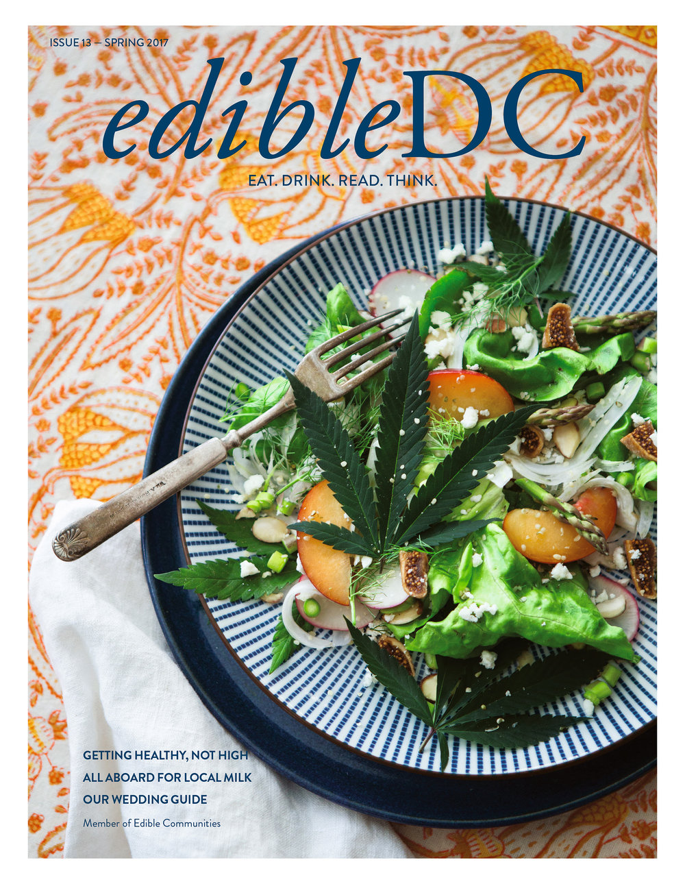 "EdibleDC Spring 2017 Cover Story ""Getting Healthy, Not High"" (Photo by Hannah Hudson Photography)"