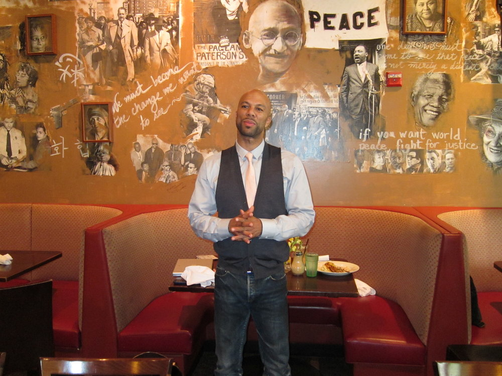 Common, an American hip-hop artist, actor, activist and author, stopped by 14th & V for some grub while doing an interview for the Washington Post. Photo courtesy of Busboys and Poets.