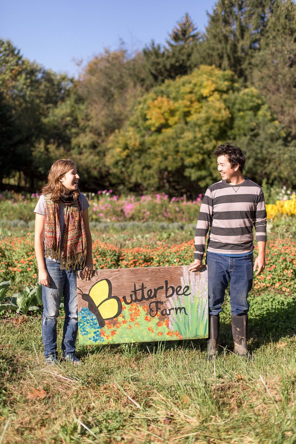 Laura Beth Resnick and Jascha Owens at Butterbee Farm. (Photo by Stacy Bauer)