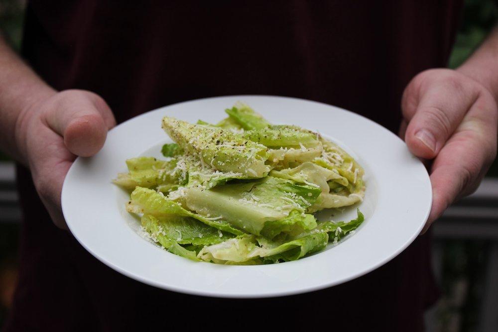 A classic presentation of a classic salad.