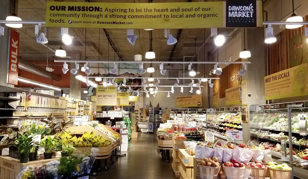 Dawson's makes their commitment to local and organic front and center.