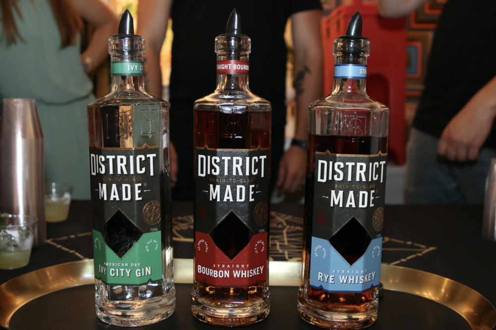 One Eight Distilling with their newly designed bottles and labels #DistrictMade.