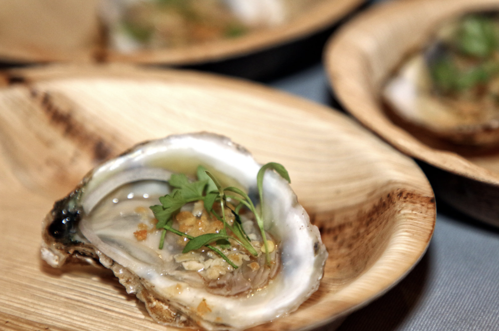 Doi Moi serving local oysters with naam jim mignonette.