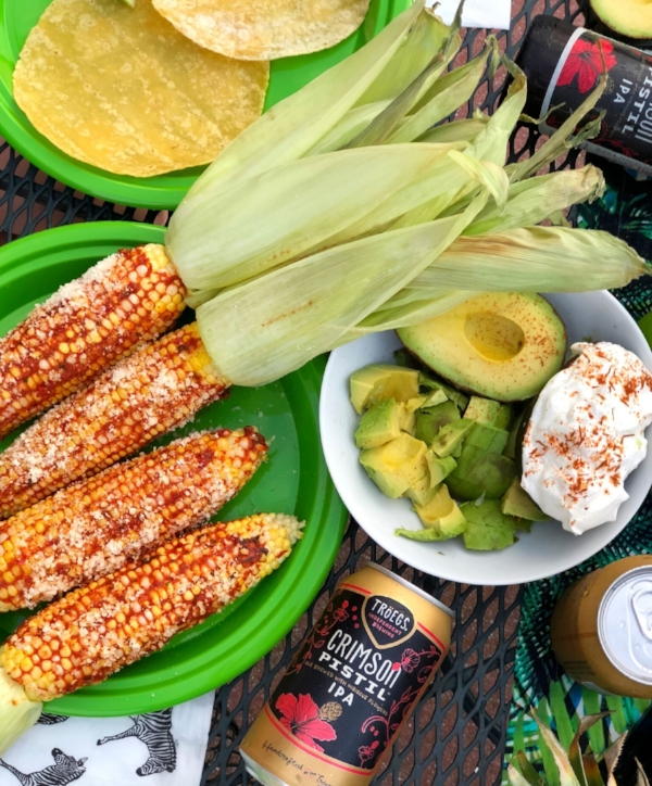 Tröegs' Crimson Pistil IPA pairs well with summer fare such as corn on the cob and freshly made tacos.