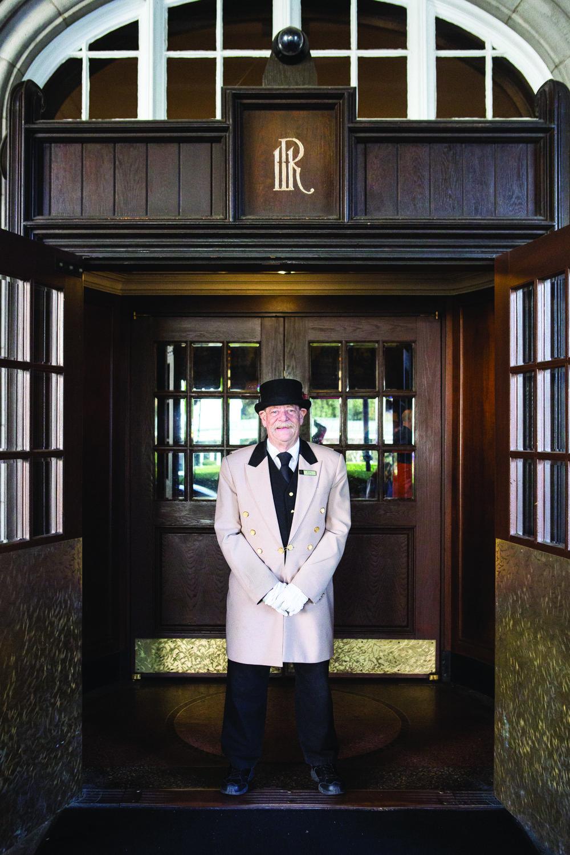 Doorman at Hotel Roanoke