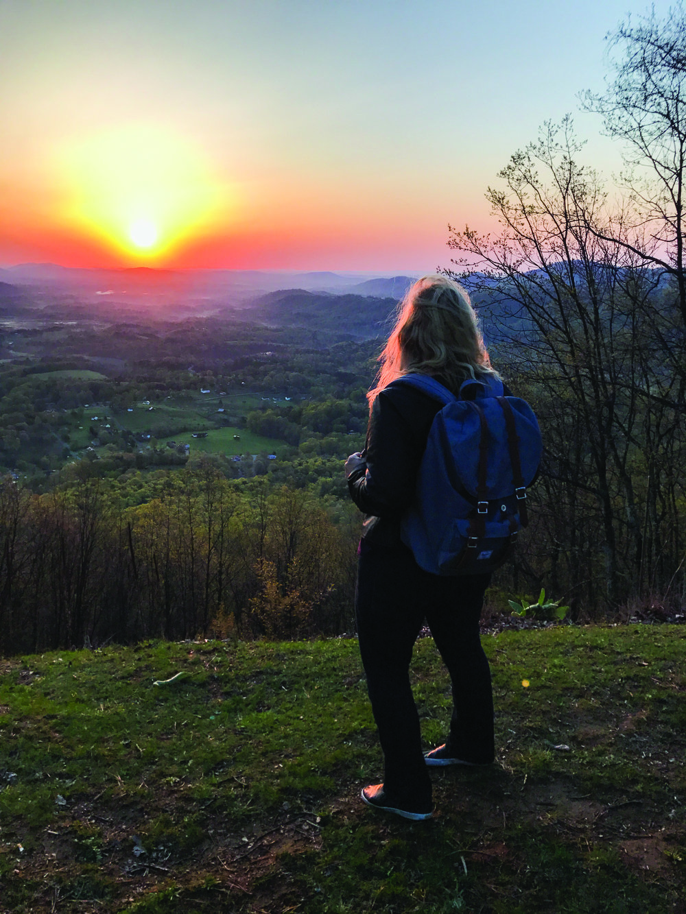 Woman overlooking Appalachian Trail