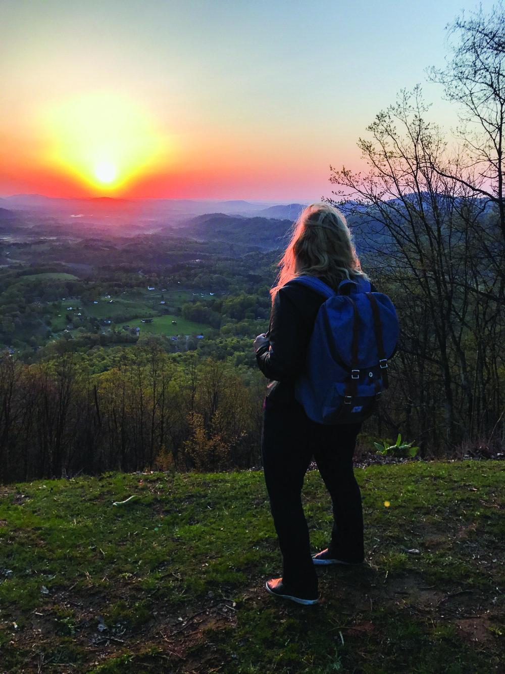 Woman overlooking Appalachian Trail