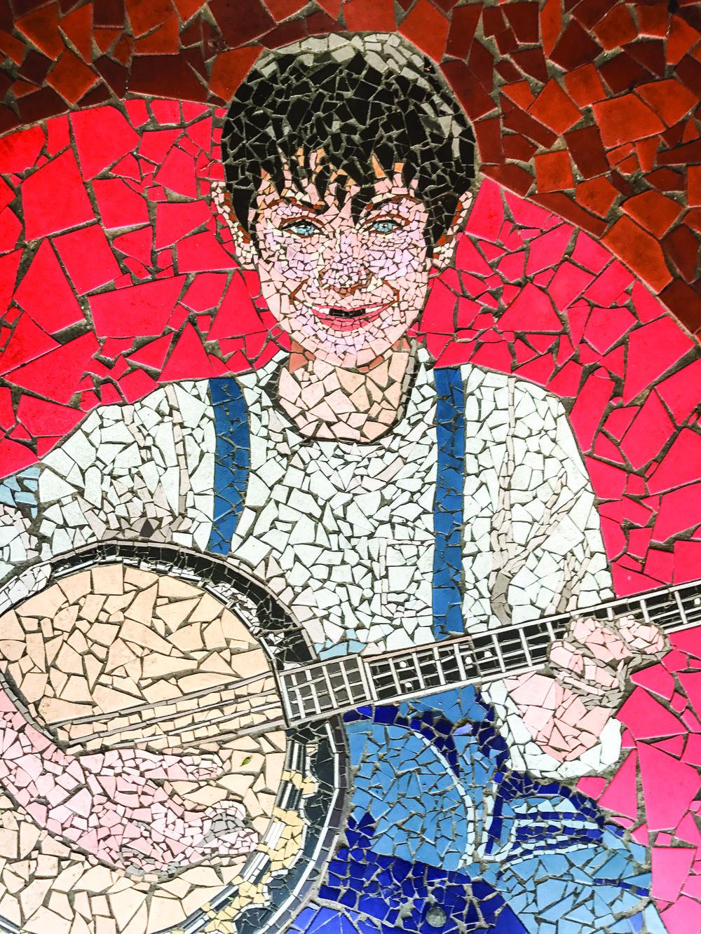 Mosaic outside Roanoke City Market