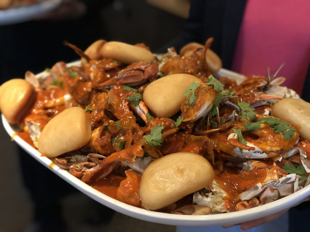 Singapore Chili Crab in its glory, thanks to Chef Nic Tang and DBGB.
