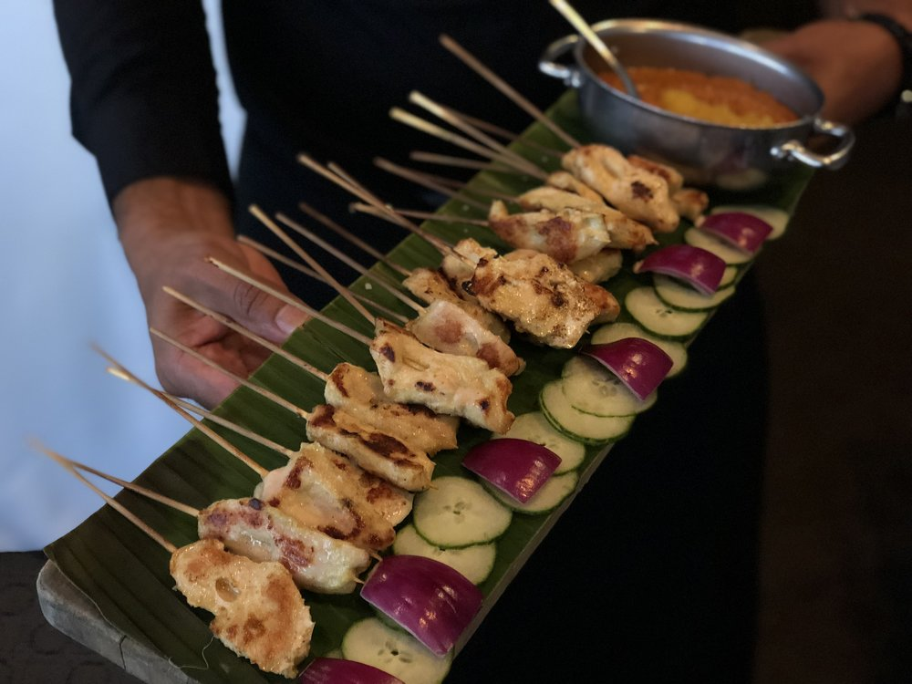 Chicken satay.