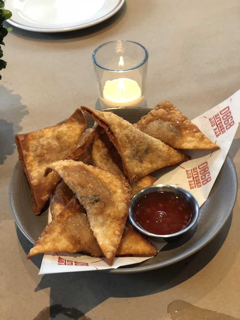 Fried wontons, Tang's grandmother's recipe.