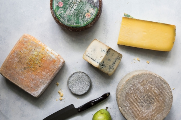 Using a combination of cheeses—soft and hard, sweet and earthy—to liven up your spread.