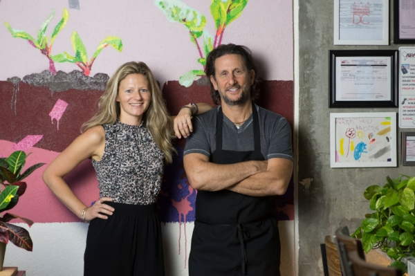 Kate Jacoby and Rich Landau of Philadelphia's Vedge and DC's Fancy Radish.