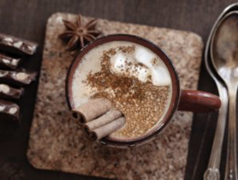 Hot cocoa is a traditional drink at Peruvian winter holidays.