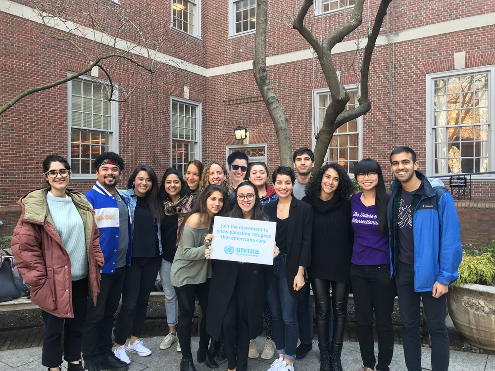 NYU Law Students for Justice in Palestine team members (in no particular order): Gerardo (Captain), Marwa, Ana, Cassarah, Hira, Rachel, Heather, Maya, Anil, Antoinette, Astrid, Eddie, Nora S., Robert, Dinesh, David, Gabriella, Nia, Nora C., and Selene.