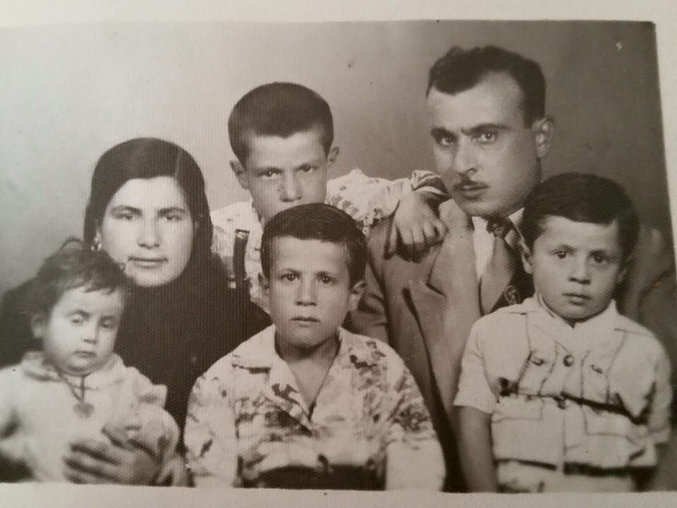 Young Dr. Yanes, alongside his family in Damascus, Syria