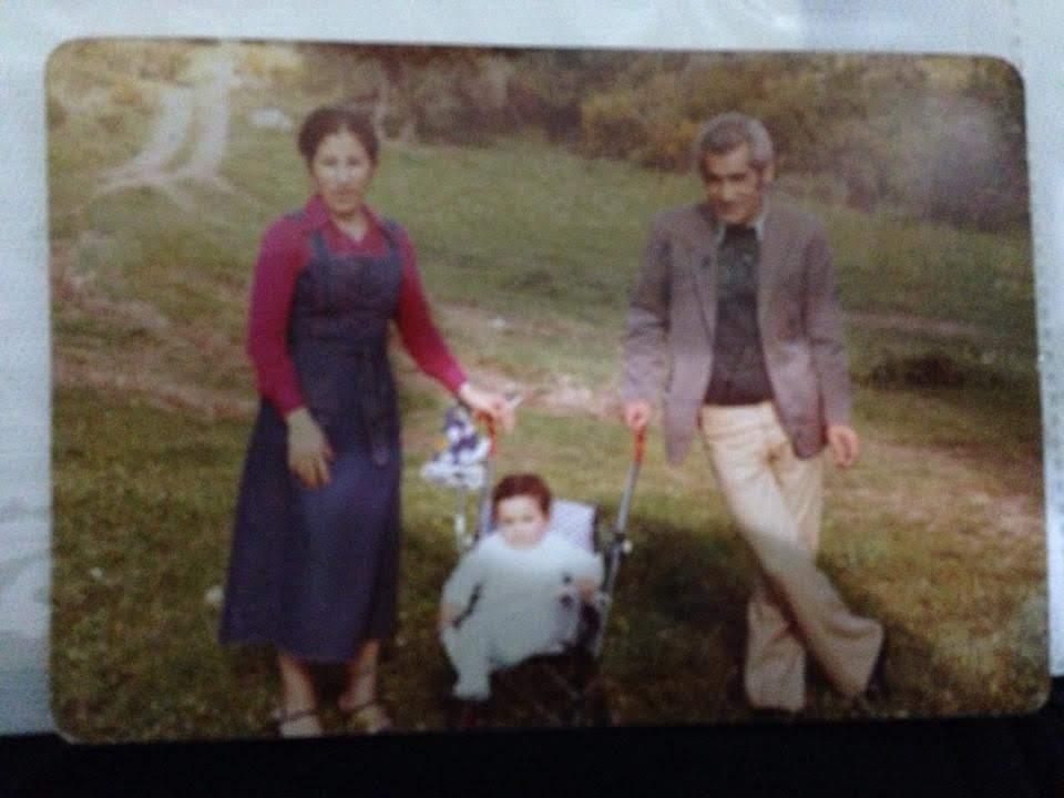 Shadi and his parents, Lebanon, 1979