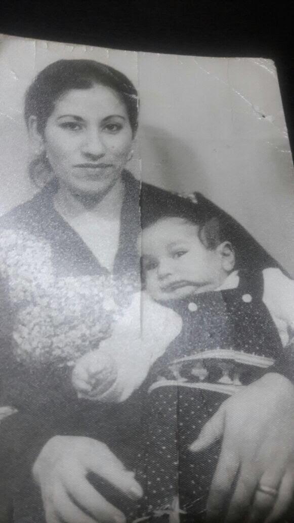 Shadi with his mother, Lebanon, 1978-9