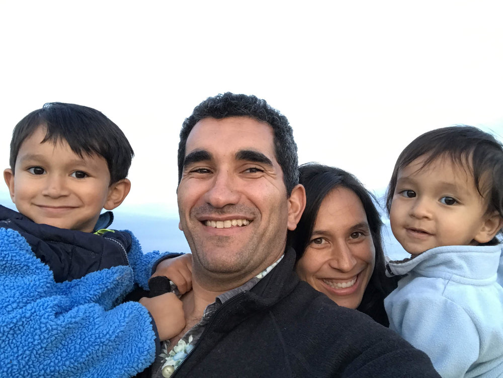 Shadi with his wife Carisa and two sons Sami and Ramzi