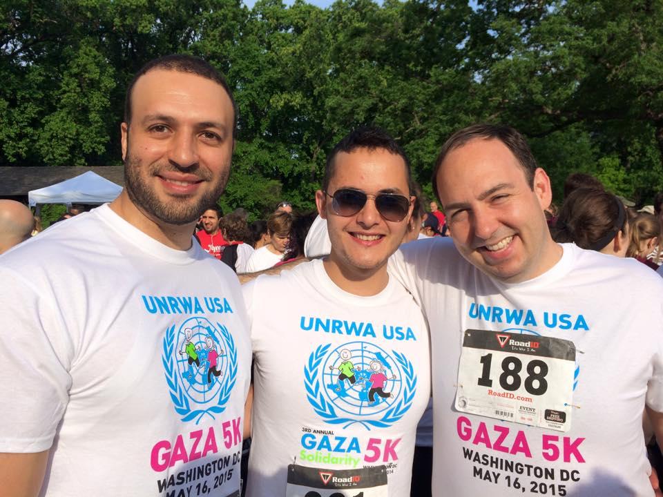 Justin (right) at the 2015 DC Gaza 5K