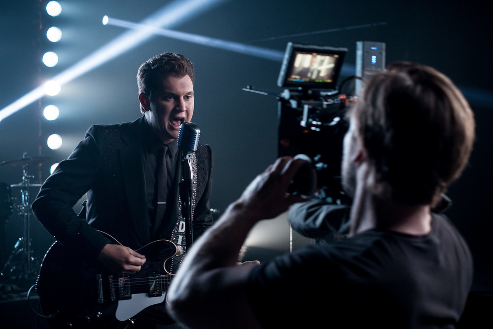 Jon Pardi on set, Nashville, TN