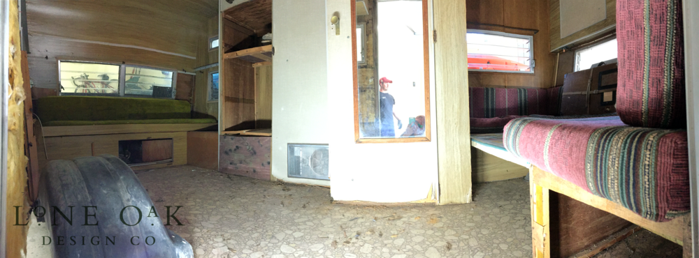 Panoramic view from the door + a perfectly timed pic of Nick creepin' like a 'Squatch.