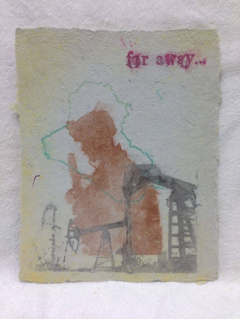 Anonymous _Untitled_ 2013 Pulp Spray on Handmade paper from military uniforms 11 x 14 IMG_2156.jpg