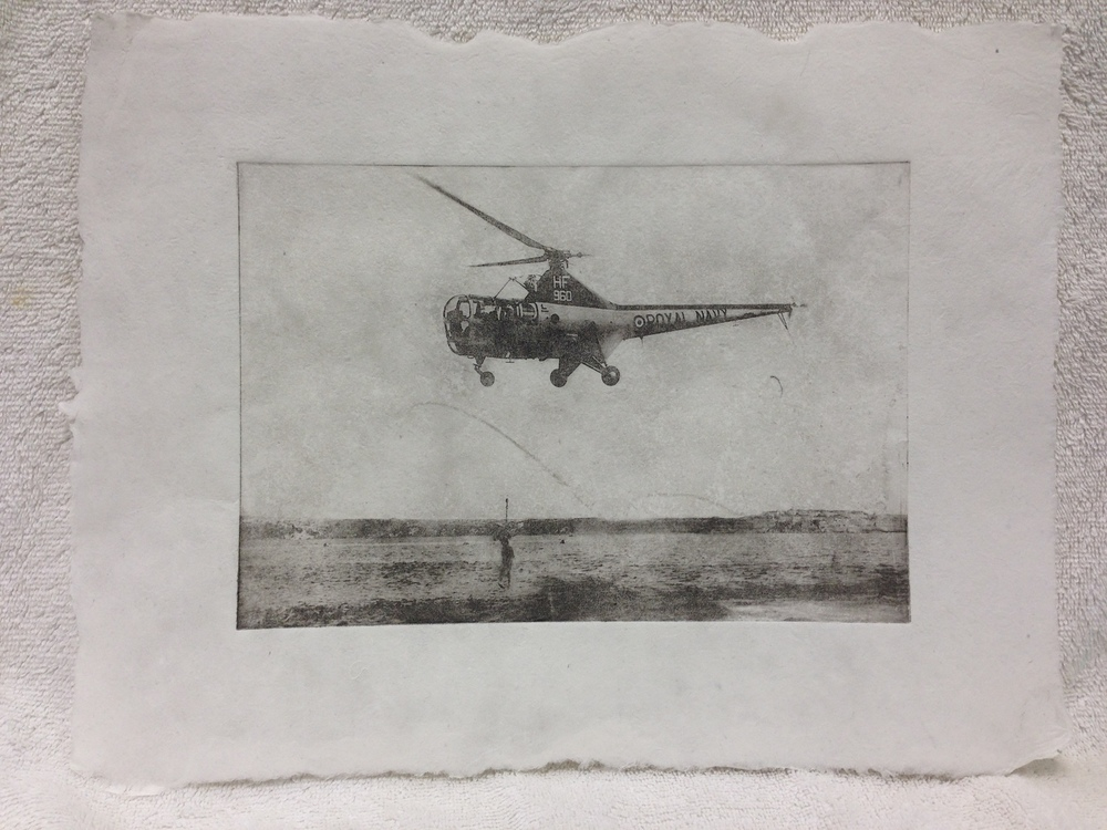 Ben Levine Navy - 1950s _Untitled_ 2013 Solar Etching on Handmade Paper from military uniforms 11 x 14 PCNJ Weekly Workshop IMG_0999JPG.jpg