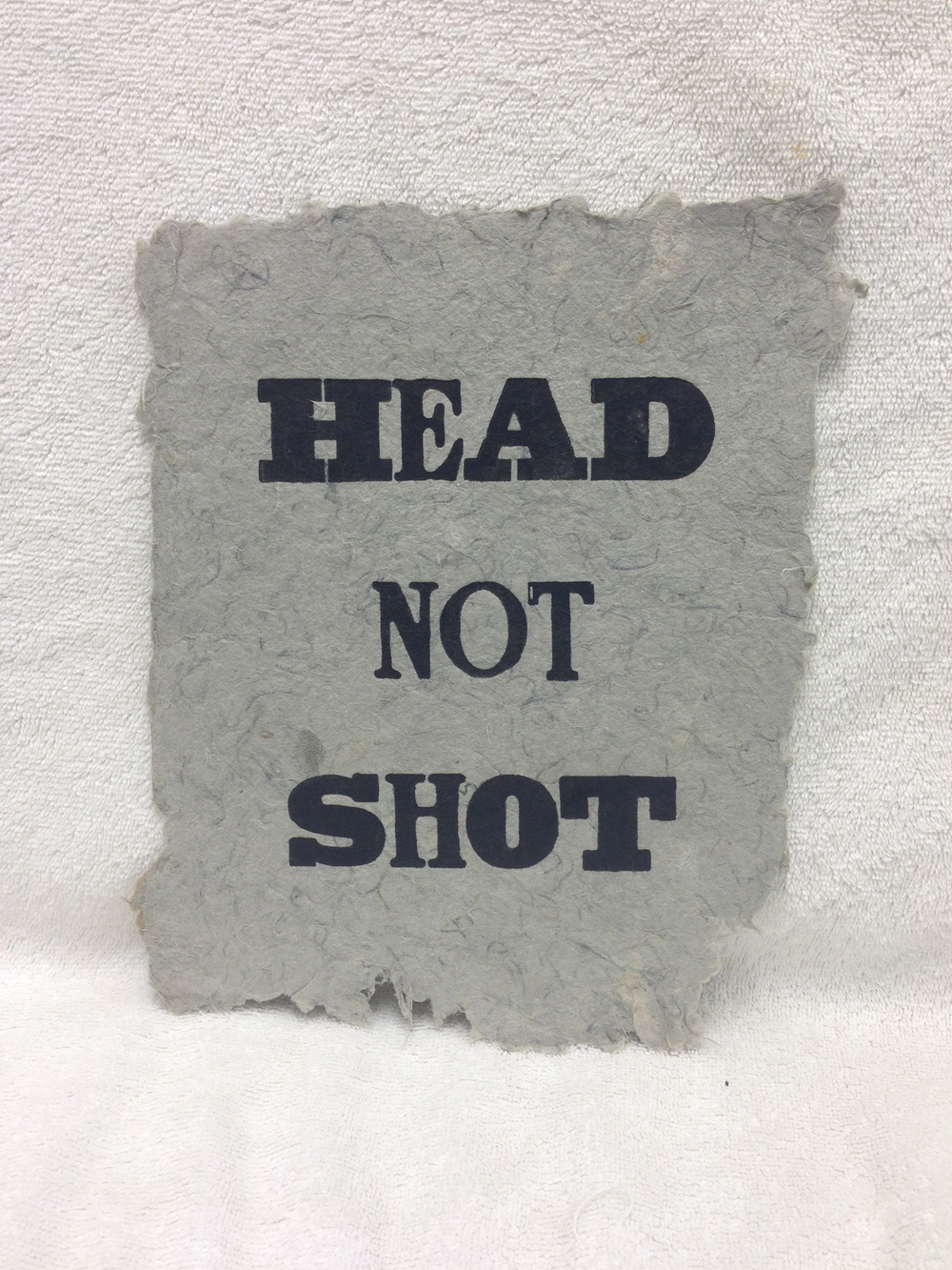 David Keefe Marines - Iraq _Head Not Shot_ 2011 Letterpress on Handmade Paper from military uniforms 10 x 8 PCNJ IMG_0931.jpg