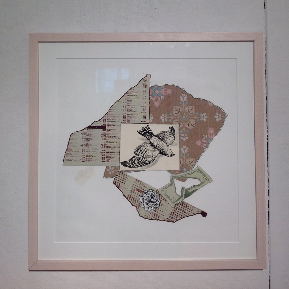 """Ephemera I""  Lithography, chine colle on paper  2014"