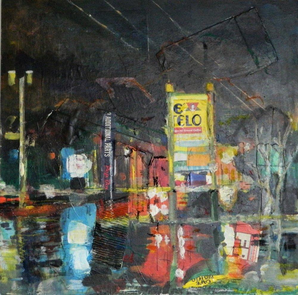 Wet Night on 27 - by Steven Epstein