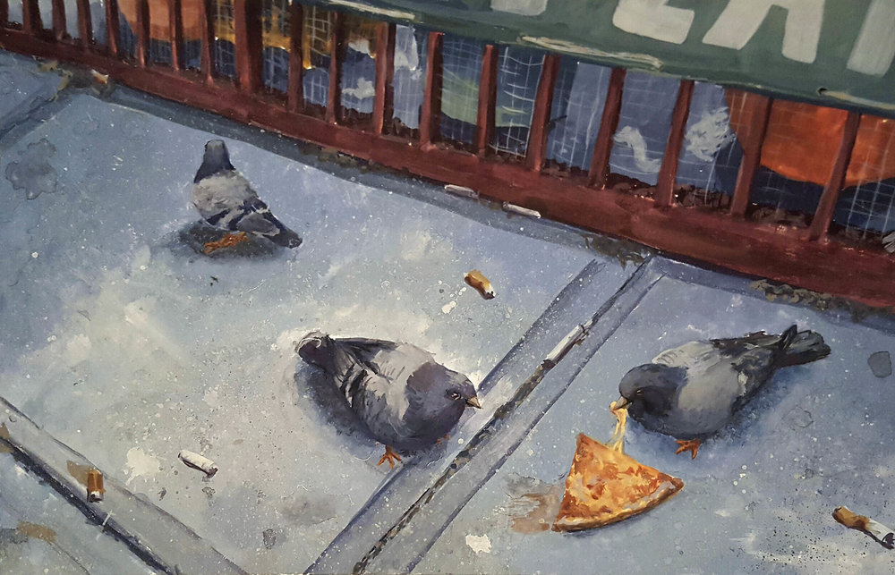 "GraceAnn Castellano - ""Three Pigeons and a Pizza"""