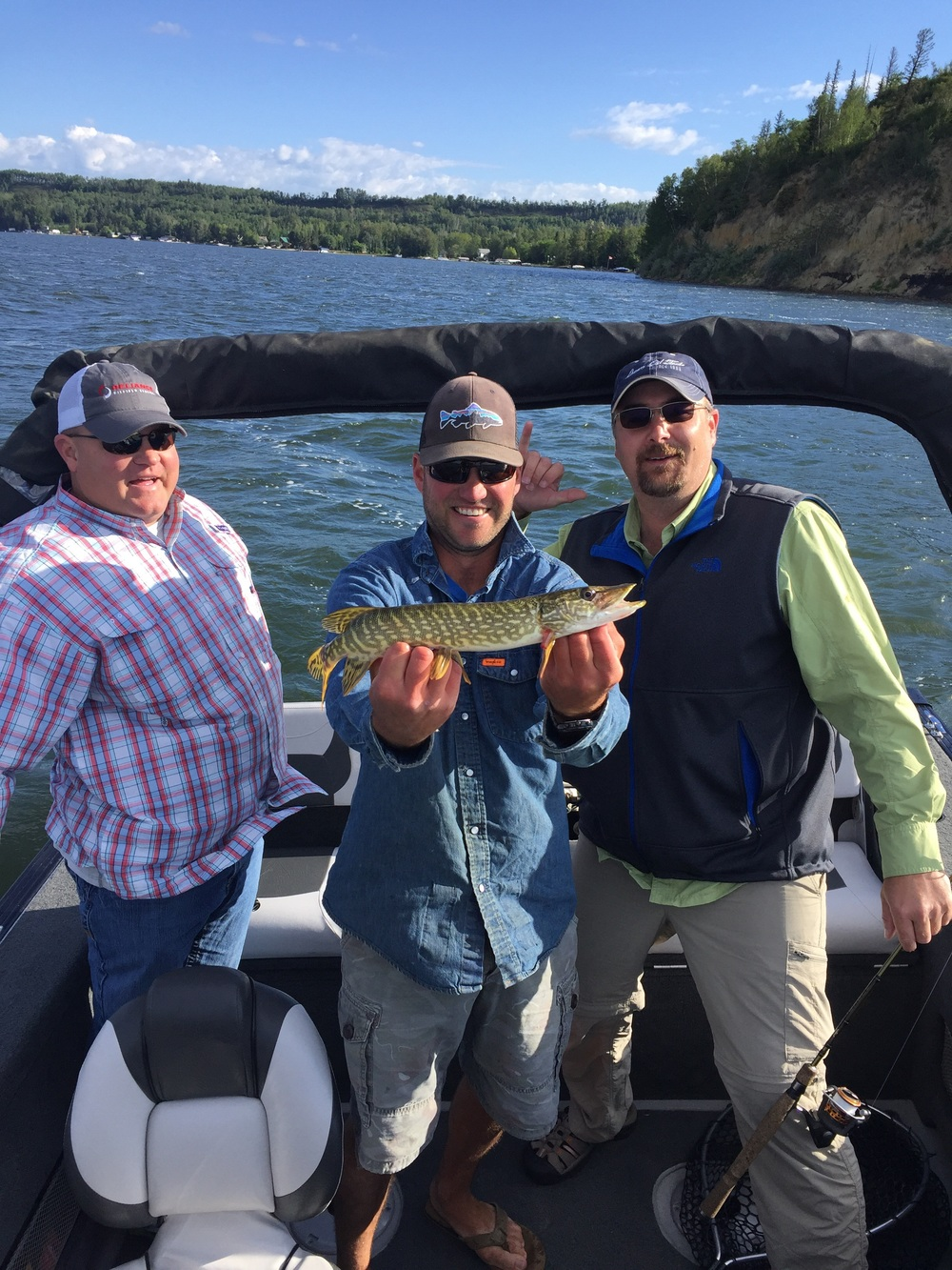Southern boys and there first ever Canadian jackfish.