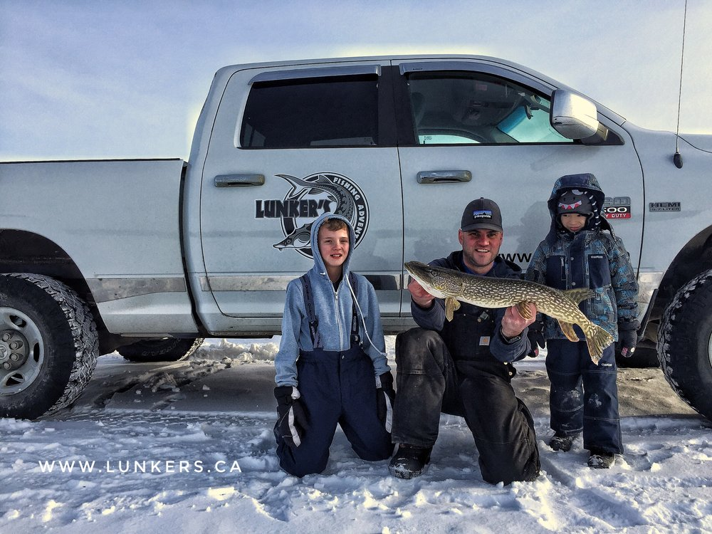 Get the kids out fishing this winter.