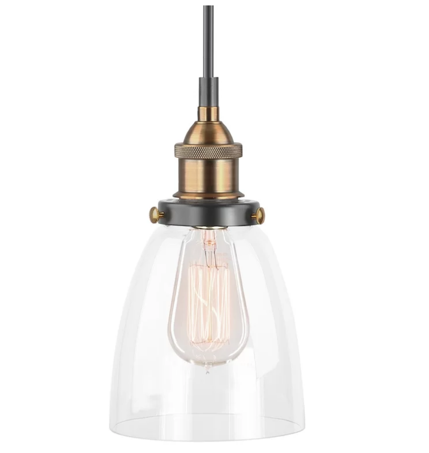 Glass Cone Pendant, Available on Wayfair