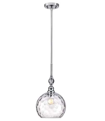 Patterned Clear Glass Orb, Home Depot