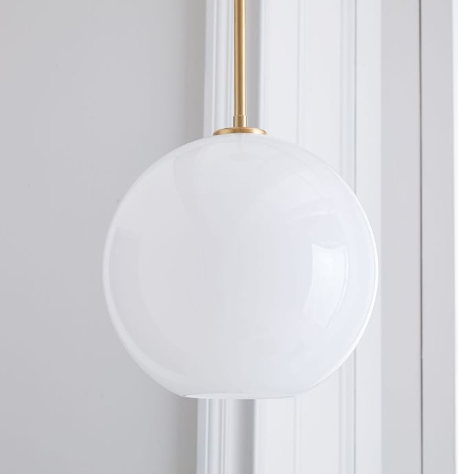 Glass Globe Pendant, West Elm (available in milk, ombre, clear, and champagne)
